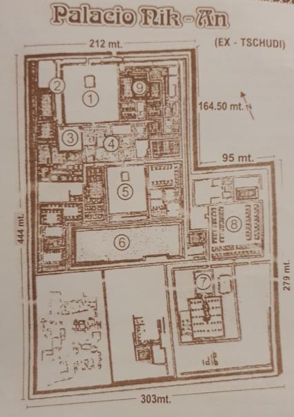 Palacio NIK-AN en Chan Chan, plano del Palacio