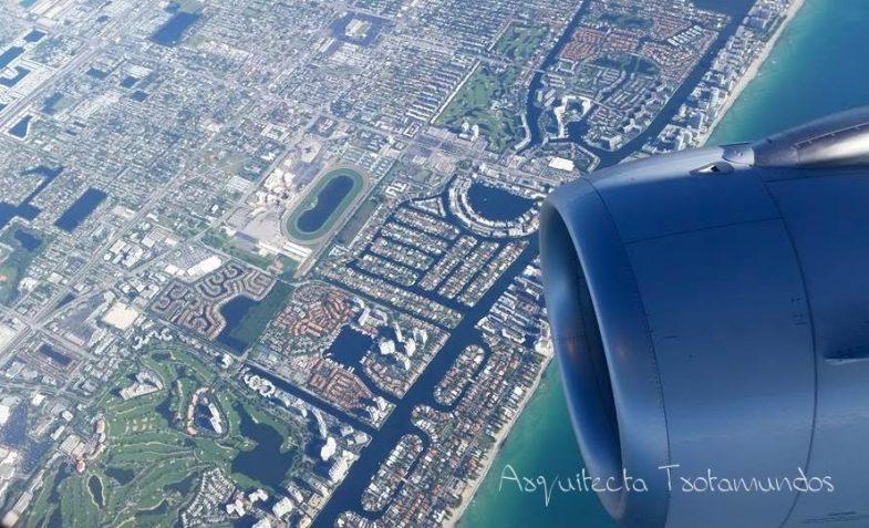 Vista aérea llegando a uno de mis destinos