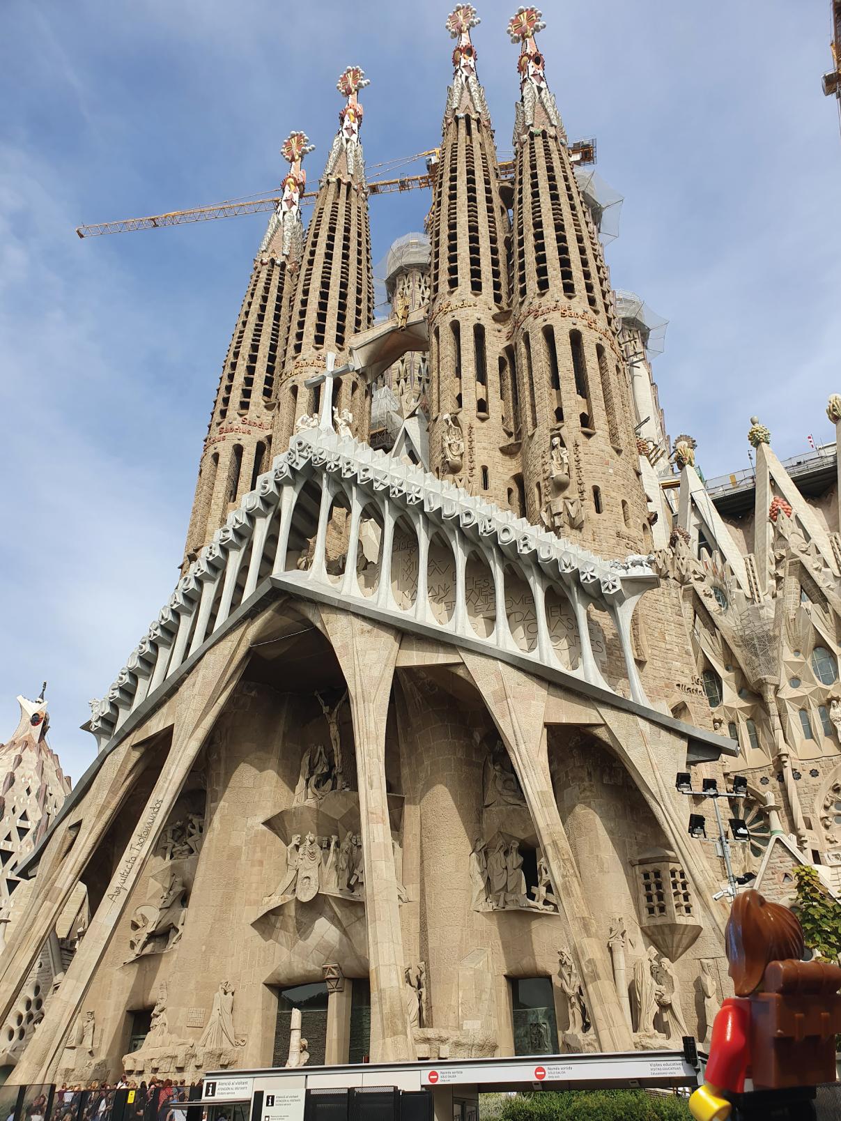 Fachada de la Pasión en la Basílica de la Sagrada Familia
